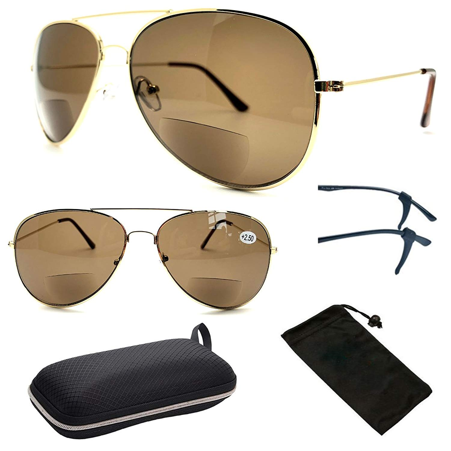 Premium Bifocal Metal Rectangular Shape Men Women Fashion Designer Sun Readers ( These Are Bifocal Sunglasses + Readers )