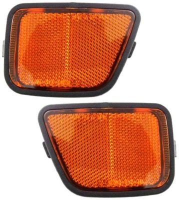 Evan-Fischer EVA23972056013 Bumper Reflector Set of 2 Passenger & Driver Side RH LH Lamp Light