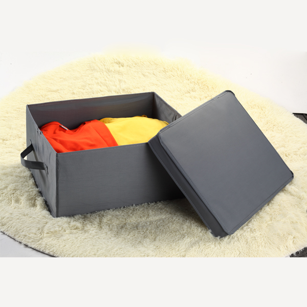 New Non Woven Fabric Folding Underwear Storage Box Bedroom: Popular Fabric Storage Bins With Lids-Buy Cheap Fabric