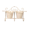 Wrought Iron Metal Wall Hanging Flower Pot Stand For Garden Decorate