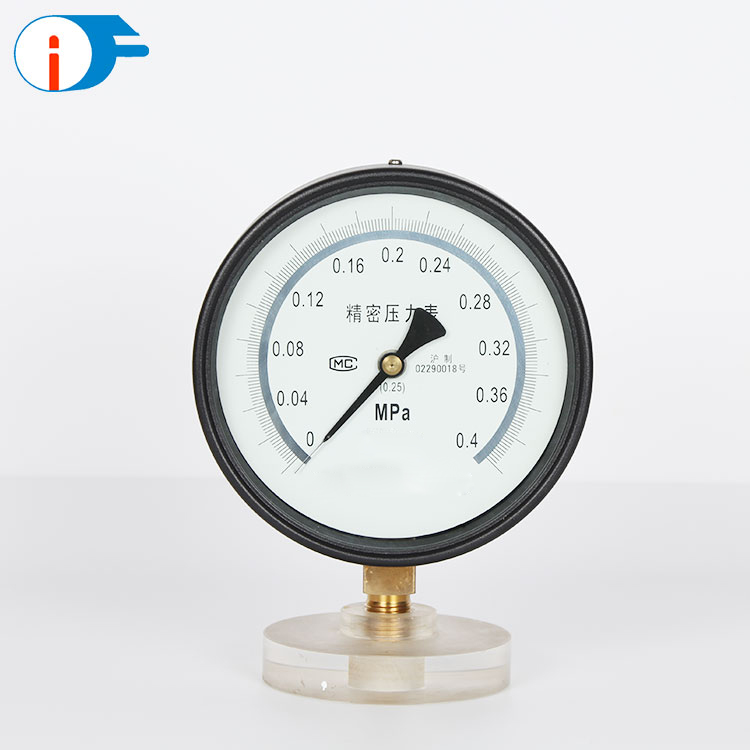 -0.1~250 Mpa High Precision Brass Lower Mount Pressure Gauge with +/-0.25% Precision