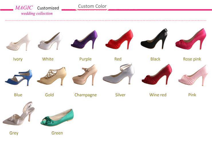Purple high heels for wedding