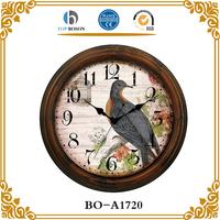 Antique reproductions wood craft european wall clock