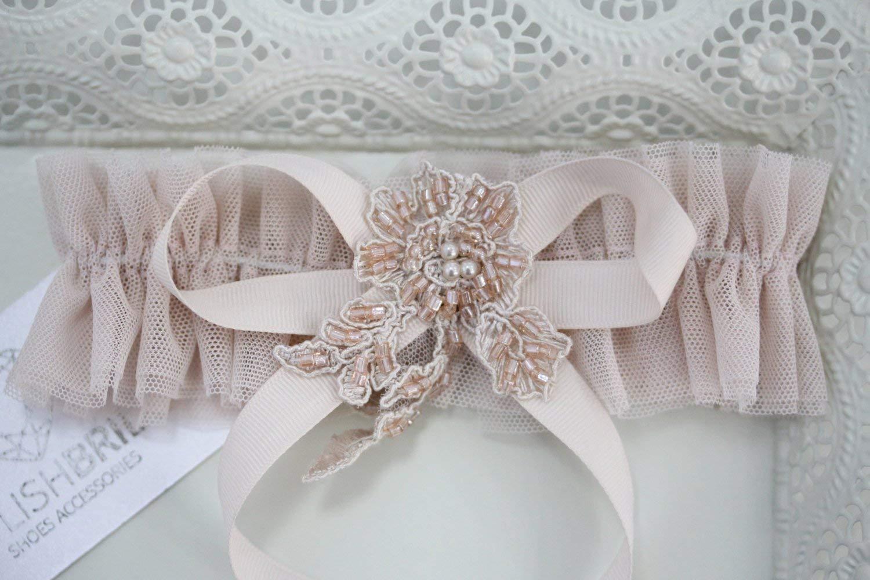 Wedding Garter Tulle Blush, Bridal Tulle Blush Garter, Bridal Garters, Blush Tulle Bridal Garter, Bridal Garter Pink