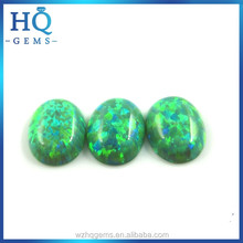 oval green opal cabochon gemstone