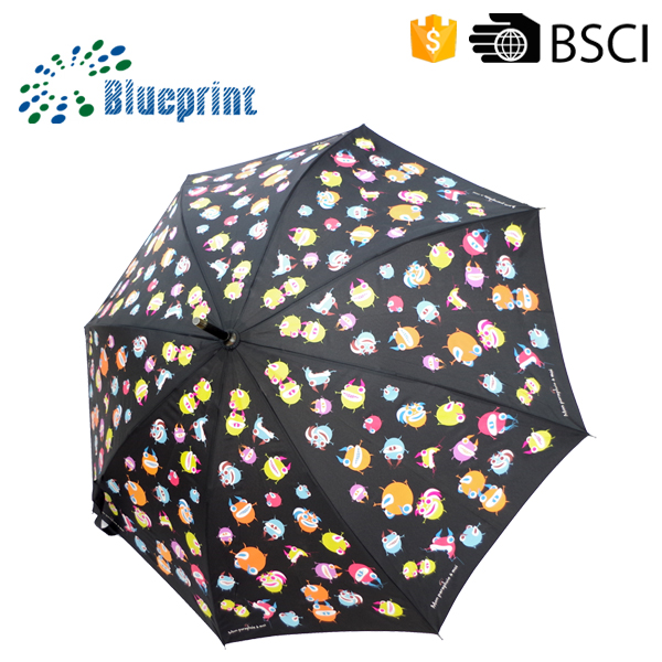 Umbrellas with photo prints fiberglass stick umbrella