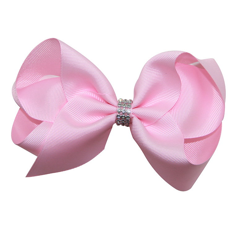 Factory Custom Elastic Ribbon Glitter Kids Jojo Siwa Hair Bow