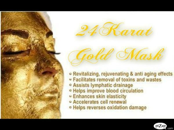 24K REAL GOLD MASK
