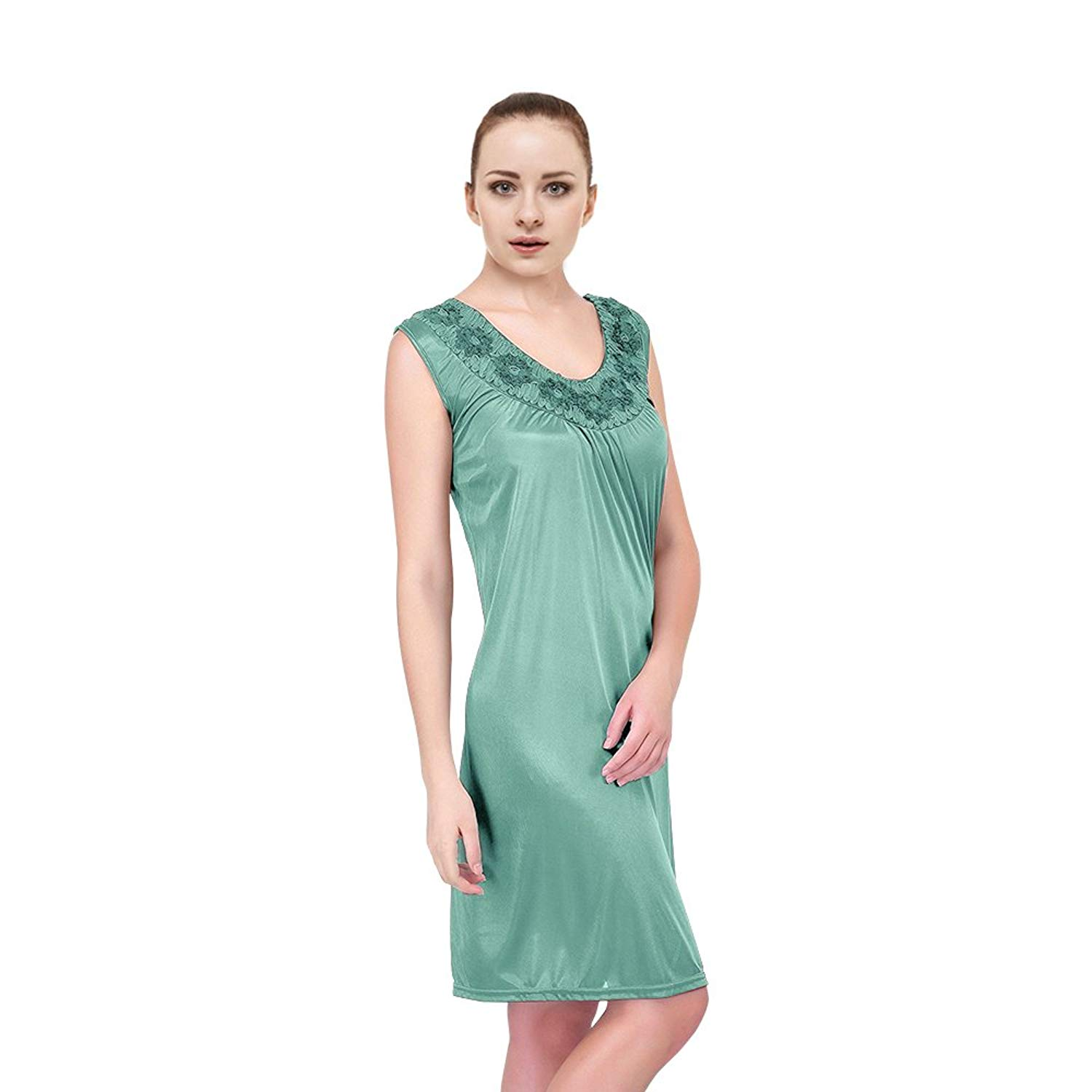 Get Quotations · Plus Size Nightgowns For Women Satin Silk Nightgowns4 by  EZI 06ab38932