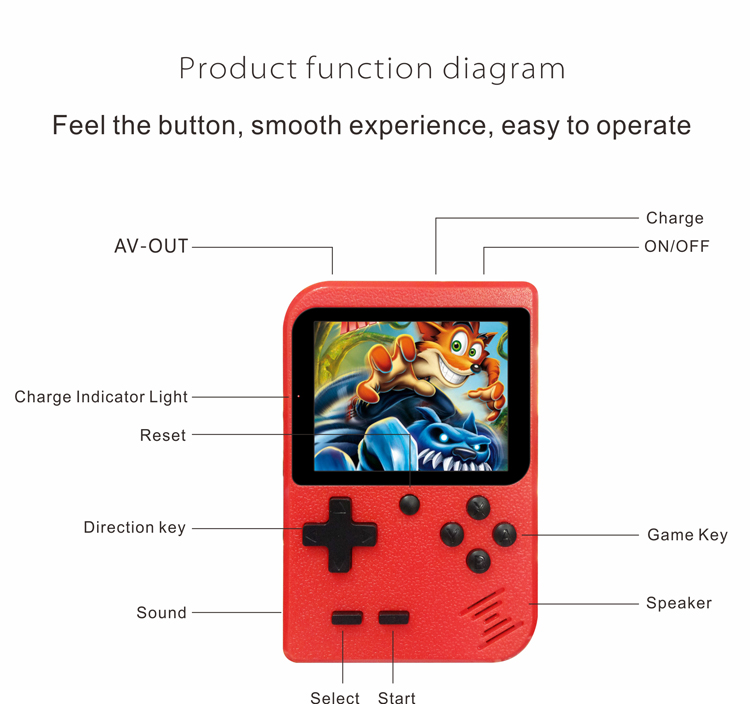CT885I Retro Draagbare Handheld Mini 400 Games En In 1 Sup Tv Video Gaming Console Consola Game Box Voor Gift kids