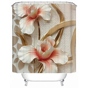 Buy Alicemall 3d Flower Shower Curtain Fabric Pink Magnolia Flower