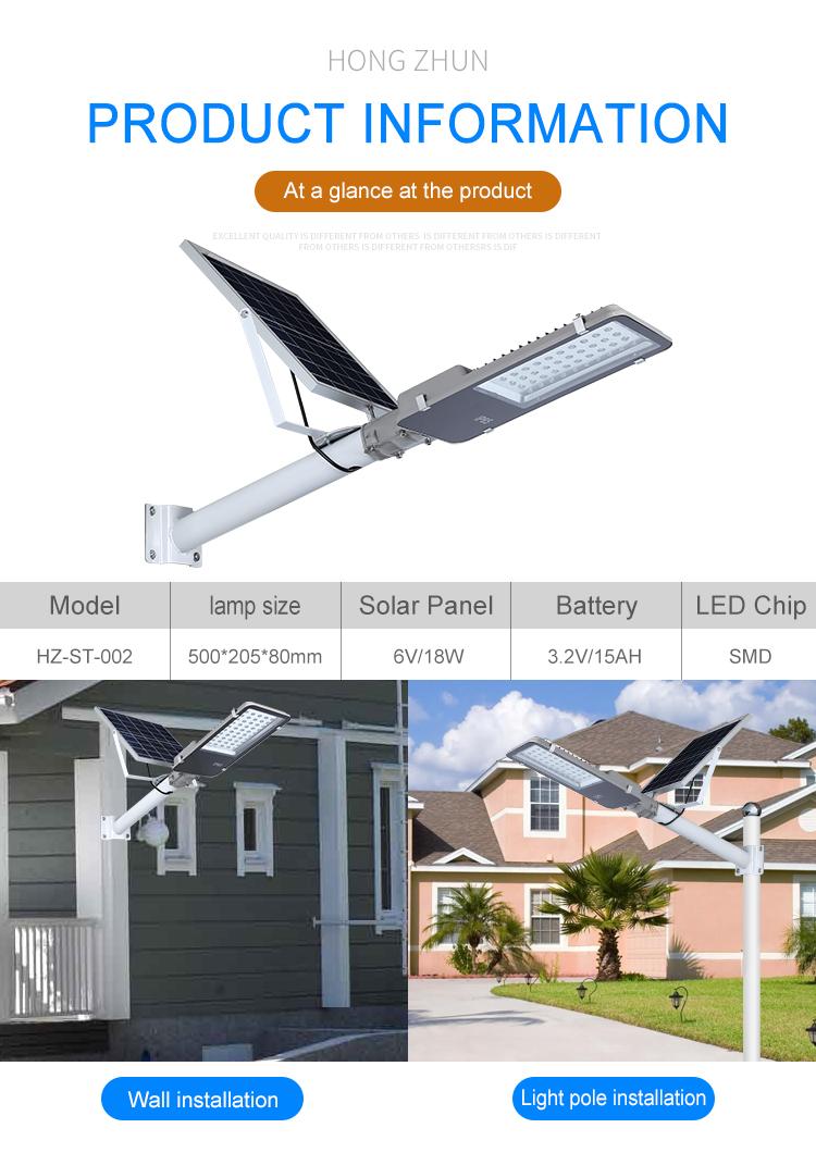Alta qualidade ip65 ao ar livre de Alumínio À Prova D' Água 30w 50w 100w 200w ao ar livre Conduziu a Luz solar Rua