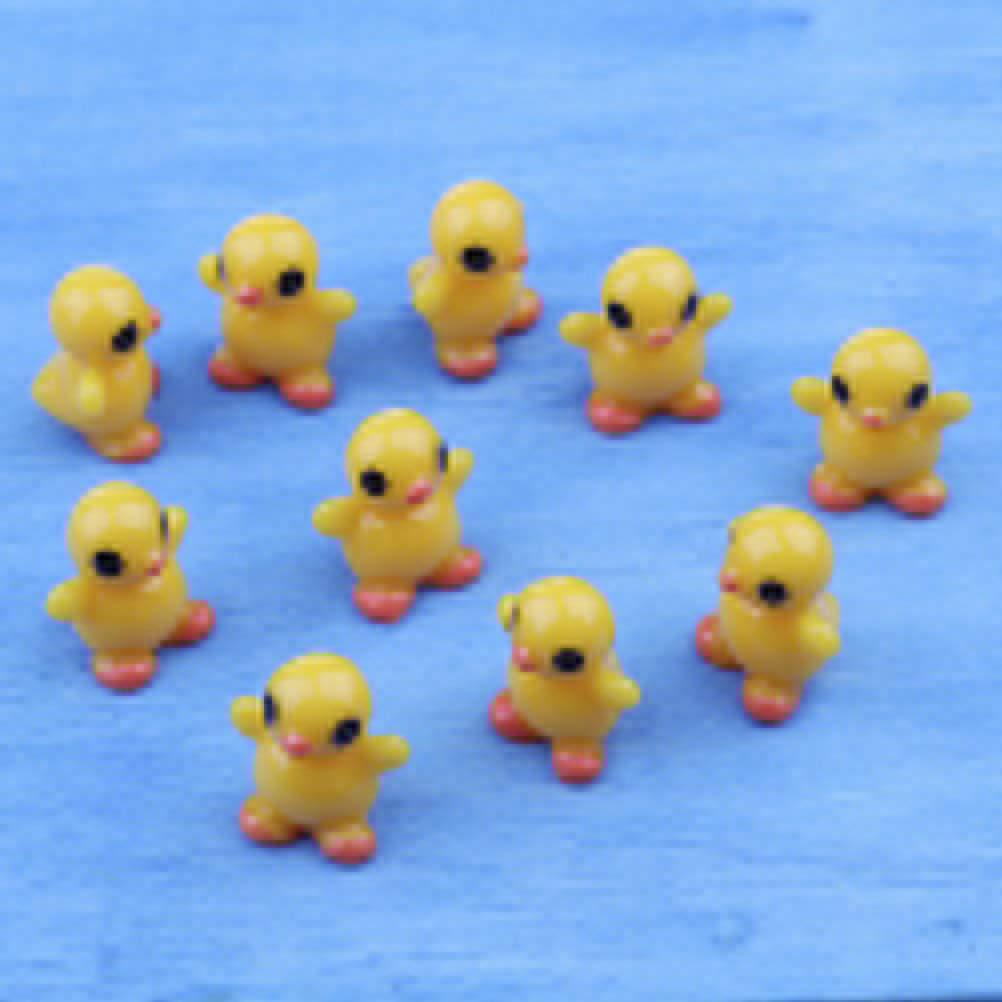 Yiphates 10 PCS Mini Resin Ducks Miniature Plant Pots Bonsai Craft Micro Landscape DIY Decor