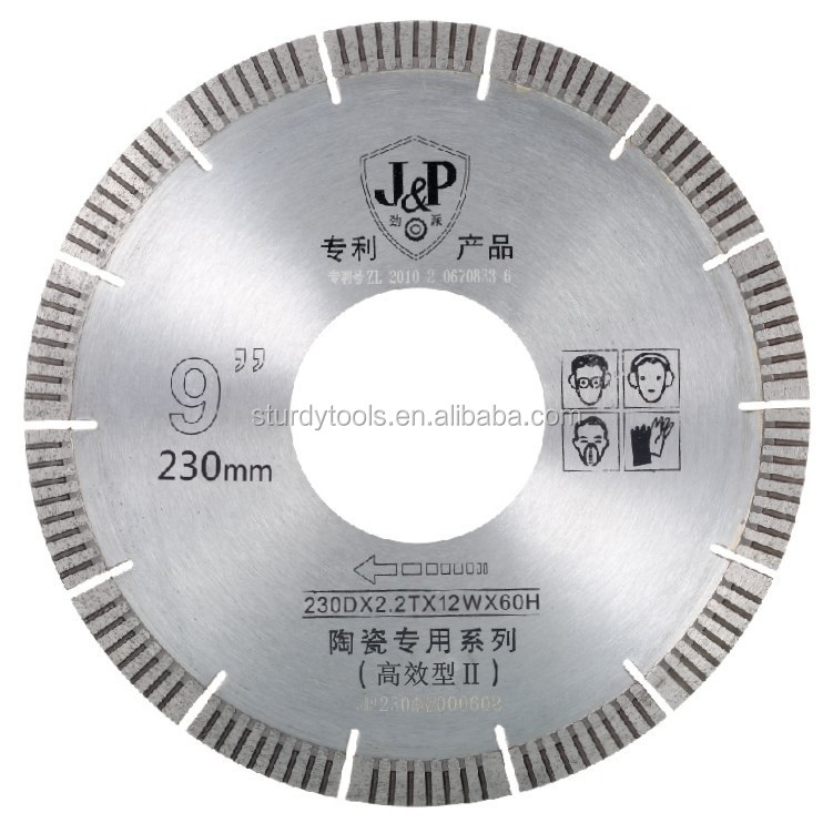 230mm diameter*60mm aperture*2.2mm thickness saw blade ,granite rock cutting saw for diamond power tools