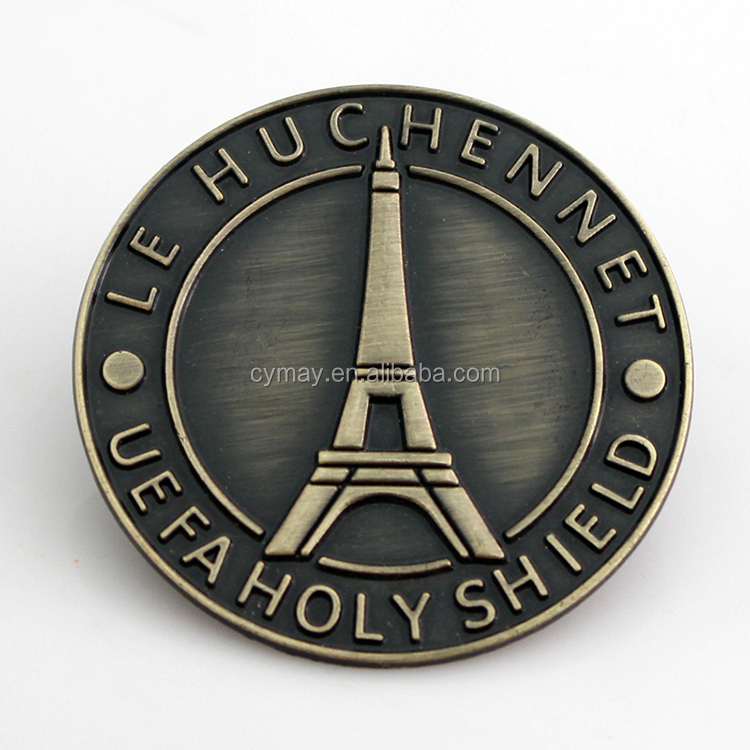Fashionable cheap craft and gift customized shape metal label