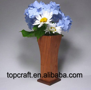 Wooden Flower Vase Made Of Cherry And Walnut Buy Wooden Flower