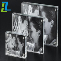 wholesales acrylic magnetic photo frame of wedding dress photo frame