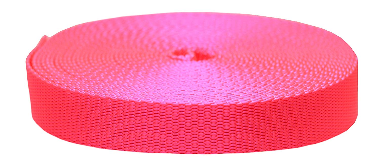 1 1//2 Inch Heavy Nylon Webbing//Strapping Florescent Orange 10 Yards