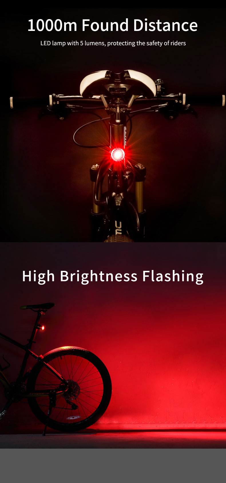 Gaciron W06 Intelligent USB Rechargeable Aluminum Bicycle Tail Light Bike Led Lights Cycling Accessories Rear Bicycle Light