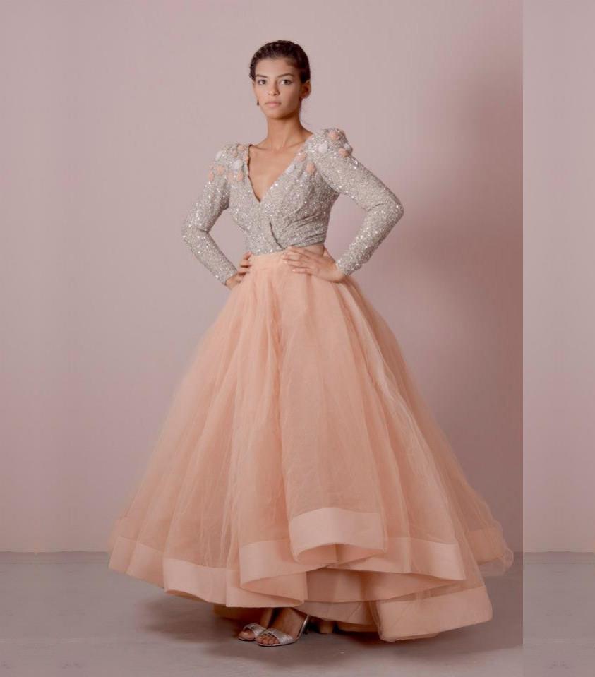 Elegant Wedding Ball Gowns: Elegant Long Sleeve Evening Dresses 2016 Abendkleider