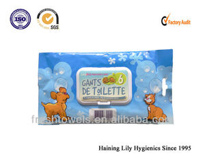 Disposable pet anti mosquito custom wet wipes/tissues/towels pet care products