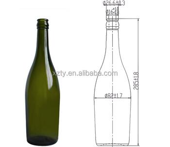 X Clear Glass Cl Wine Bottles