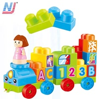 Colorful plastic cube large building block created toy for kid