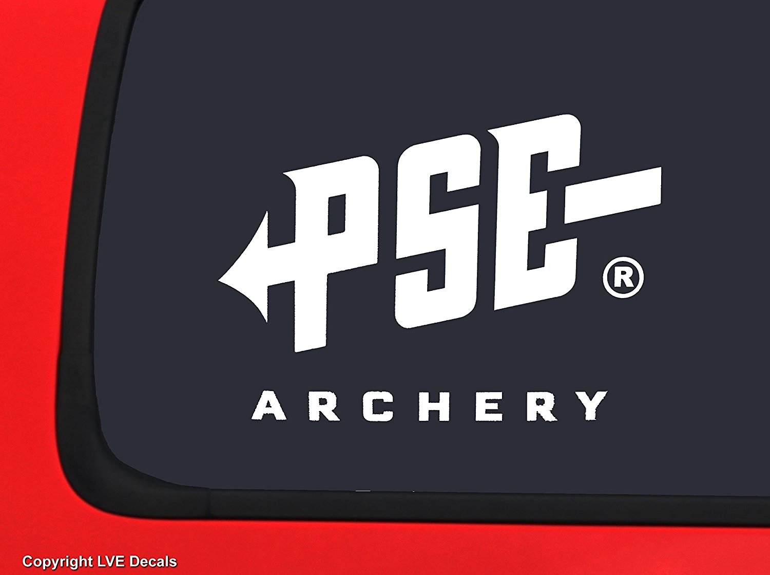 Get quotations · pse archery logo white bowhunting window decal sticker