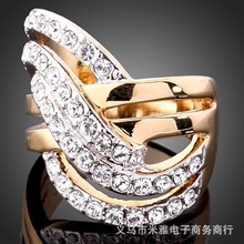 2016 Sapphire Jewelry Rushed Anel The Gorgeous 18k Plated Ring O Crystal Rings For Woman And Fashion Jewelry No Minorder Rg200