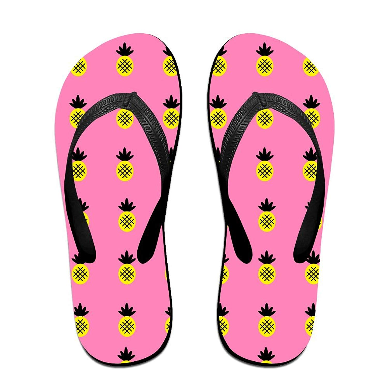 ed8db05f5396 Get Quotations · Pink Pineapple Paradise Fun Flip Flops Thong Sandals