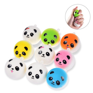 2019 New keychain animal toys ,Stress Reliever Dog Slices Super Slow Rising Squishy pu toys For Kids and Adults