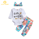 Newborn Cute Infant New Baby Boy Girl Summer Clothes Online Bow Flower Girls Baby Infant Romper Rompers Set For Girls