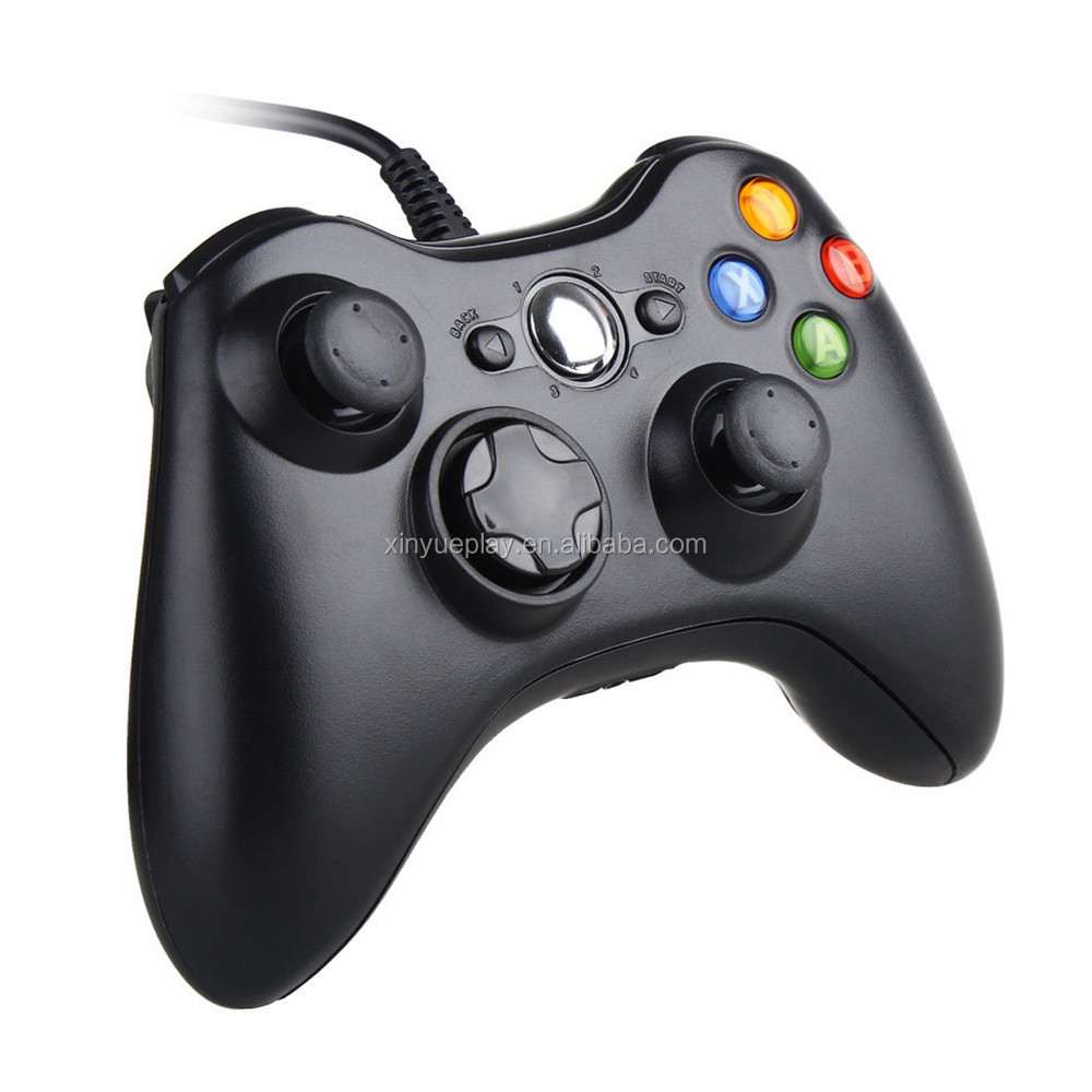 Hot sale game controller for wired XBOX 360 with two motors