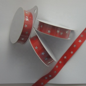 New arrival red polyester decorative printing grosgrain retail gift packaging ribbon