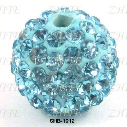 Turquoise discount crystal beads SHB-1012