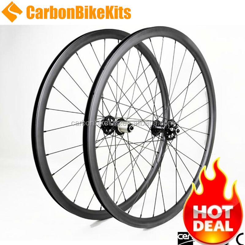 "CarbonBikeKits 26"" wheelset mountain bike carbon mtb all mountain bike wheels 26er disc brake for sale BAM26-25"