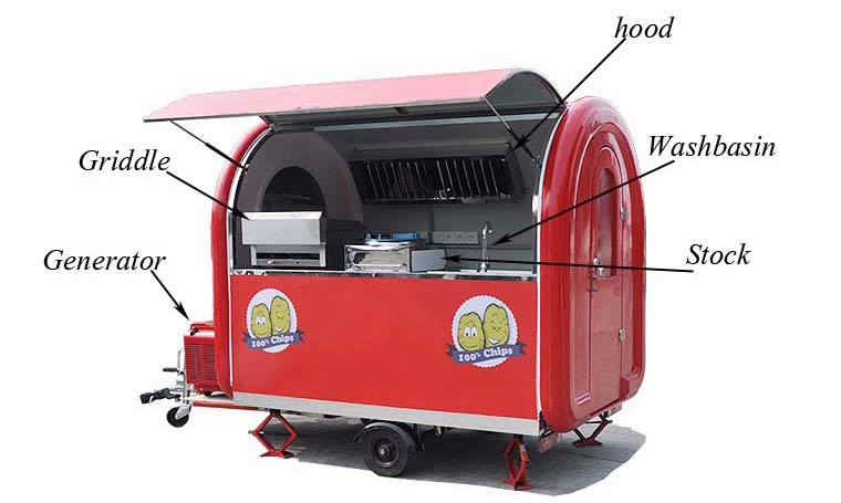 Ice Cream/Coffee Food Truck Mobile Food Trailer Mobile Coffee Truck for Sale