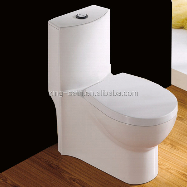 siphonic one pc ceramic water closet toiletsiphon toilet wc, Bathroom ceramic one pc lavatory wc toilet, S Trap 300mm Siphonic