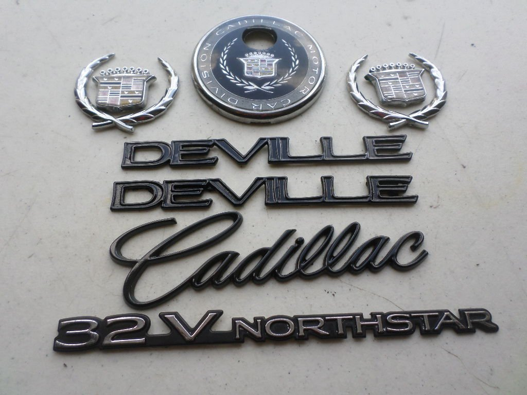 Get Quotations 96 99 Cadillac Deville 32vnorthstar Side Fender Decal Wreath Crown Rear Trunk Logo