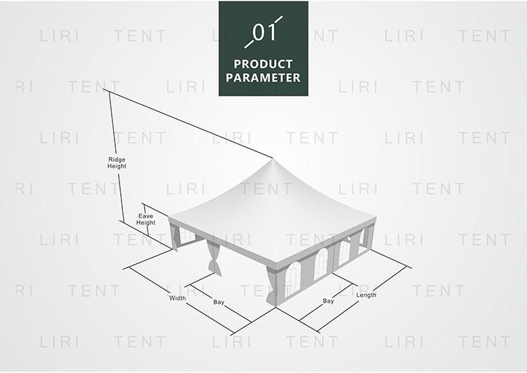 LIRI Tent for Ramadan Hajj Small Pagoda with Good Quality from Canton Fair Tent supplier