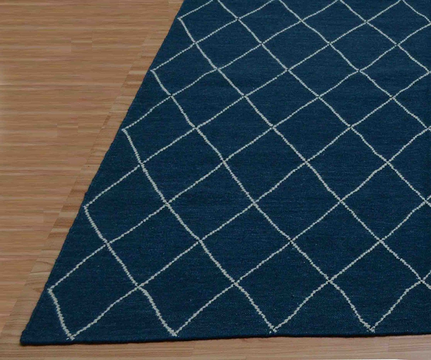 Get Quotations · Brand New 6 x 9 Ellie Trellis Blue Contemporary Style Dhurrie Wool RUGS EDH ;PMN