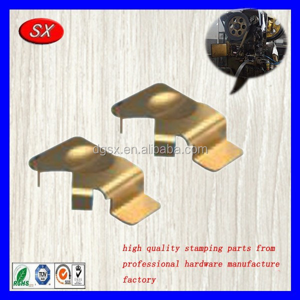 OEM copper sheet metal stamping part for battery contact holder,phosphor bronze battery contact,metal stamped loaded contact