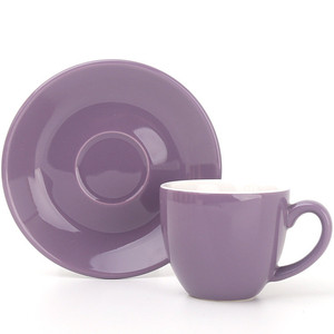 100ml Personalized Colored Glazed Ceramic Espresso Coffee Porcelain Cup and Saucer Set