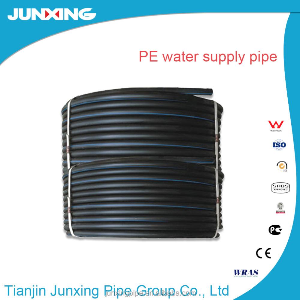 black plastic water pipe roll, black plastic water pipe roll