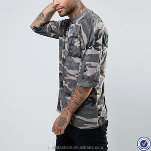 bangladesh clothing custom t shirt dropped sleeve oversized camo t shirt