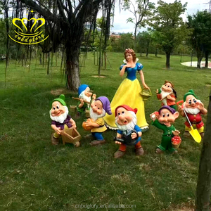 Amusement park product colored drawing fiberglass resin cartoon figure sculpture