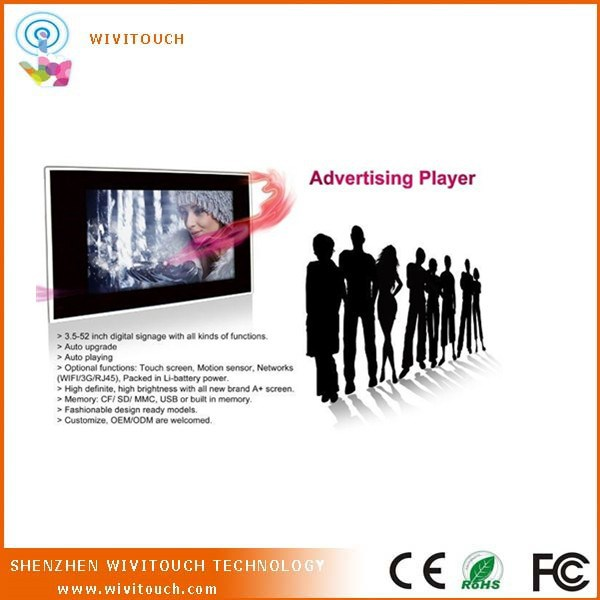 Wall Mounted Android WIFI 3G Network Touchscreen Kiosk for Advertising