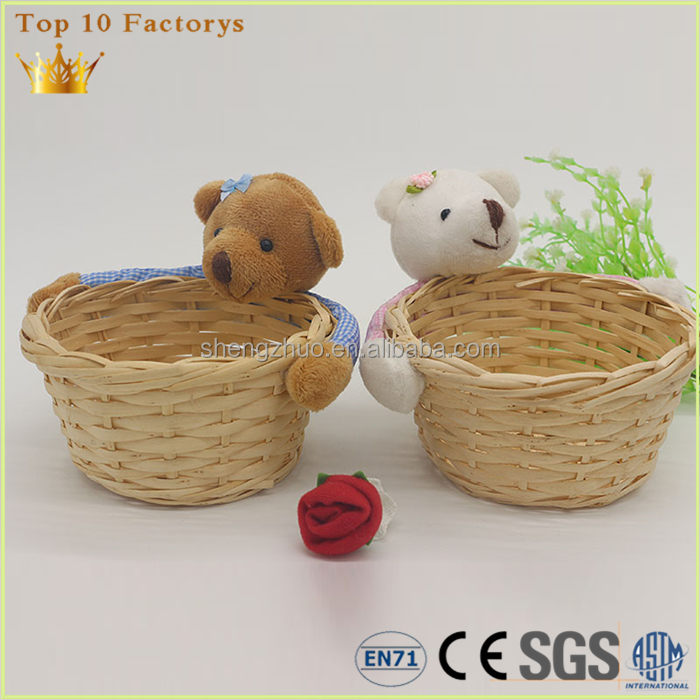 CE EN71 Custom Baby decoration lavender image bear with basket
