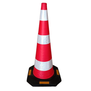 Traffic cone EVA post with rubber base