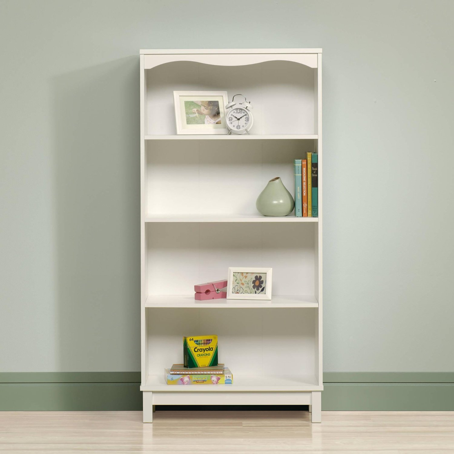 Storybook Bookcase Unit a Beautiful Designed Display & Suitable Office Furniture. This Bookshelf Storage Unit Useful for Home Office, Living Room, Kids Room, Kitchen, can hold your Books, CDs